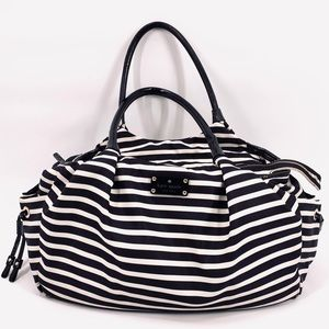 Kate Spade Stevie Striped Tote Diaper Weekend Bag